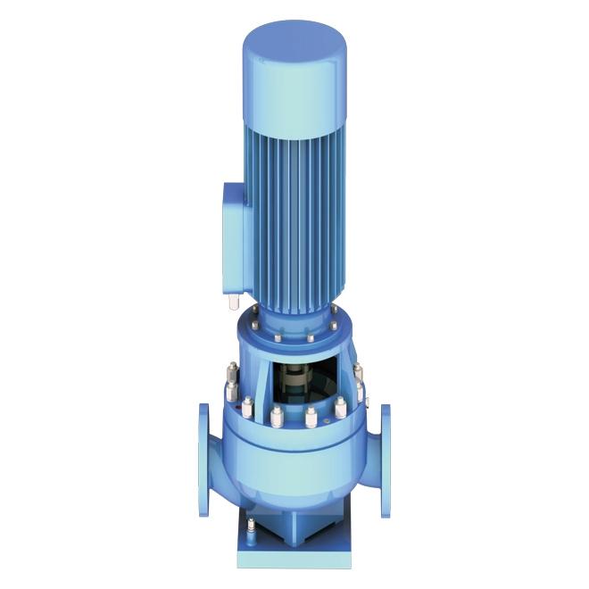 Close coupled vertical inline singlestage pump, ETL